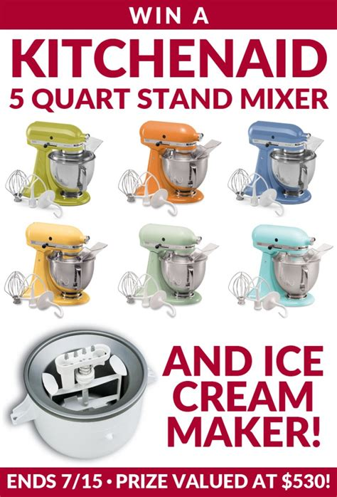 Stand Mixer Giveaway - kitchen aid stand mixer giveaway diary of a recipe collector