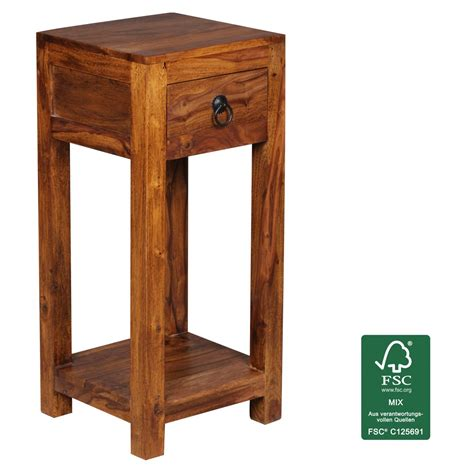Telephone Table With Drawers by Wohnling Sheesham Solid Wood Side Table Telephone Table