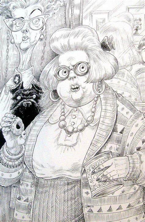 The Neil Gaiman Coloring Book chris riddell the illustration cupboard illustration
