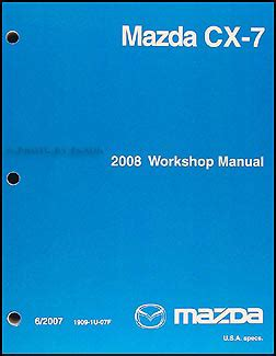 car repair manual download 2008 mazda cx 7 electronic toll collection 2008 mazda cx 7 repair shop manual original