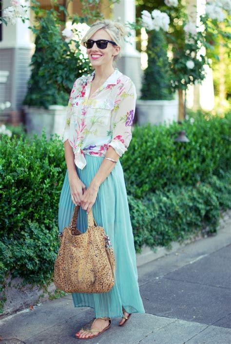 maxi skirts and tops combination summer trends