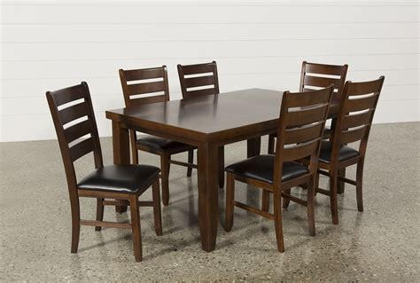 Living Spaces Dining Chairs Bradford 7 Dining Set W Bardstown Side Chairs Living Spaces