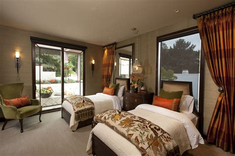 Designer Bedroom Decor La Jolla Luxury Guest Room 3 Robeson Design San Diego Interior Designer