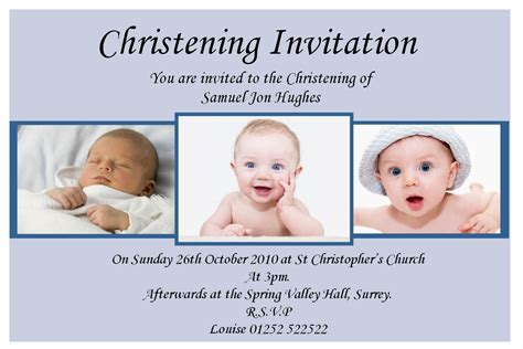 invitation card for baptism of baby boy template baptism invitation for boys christening invitation for