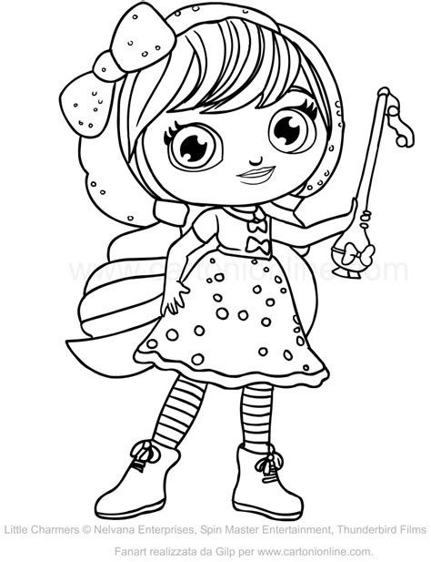 little charmers coloring pages nick jr disegno di lavender delle little charmers da colorare