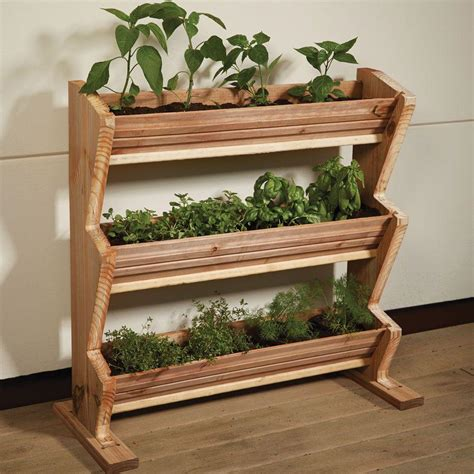 Rowlinson Rectangular Patio Planter 1800 X 400 X 370mm Patio Garden Planters