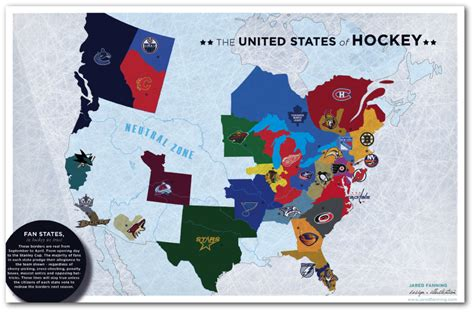nhl map map of nhl teams by territory hockey