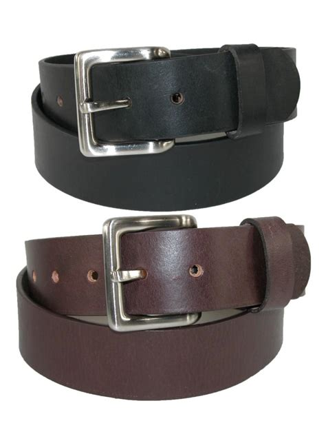 mens leather bridle belt with removable buckle pack of 2
