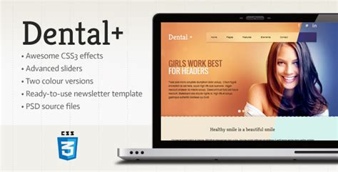 Top 30 Html Orange Color Templates Themes Dental Newsletter Template