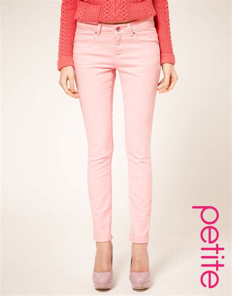 Asos Collection Asos Petite Pale Pink Skinny Jeans In Pink