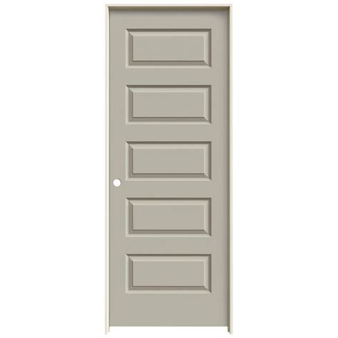 jeld wen interior doors jeld wen 24 in x 80 in molded smooth 5 panel desert sand hollow composite single prehung