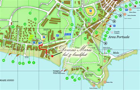 mappa giardini naxos b b domus maris dove siamo