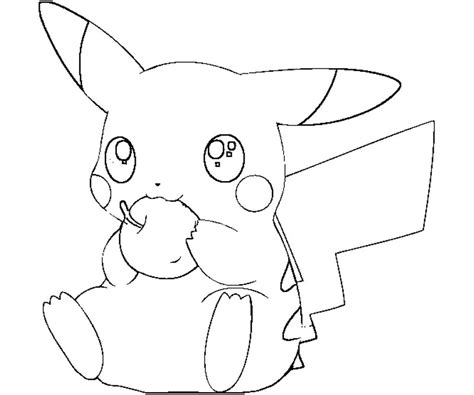 pokemon coloring pages pichu pokemon coloring pages pikachu coloring home