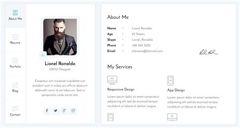 themeforest html templates free download themeforest vcard html template free free