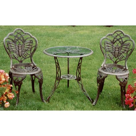 oakland living 174 butterfly 3 pc bistro set 122322