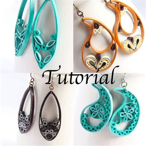Quilling Earrings Tutorial Dailymotion | tutorial for paper quilled jewelry pdf paisley and