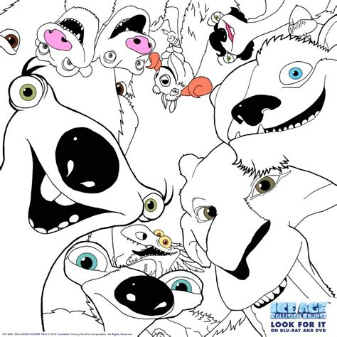 click here for ice age coloring pages kid crafts free printable ice age coloring page mama likes this