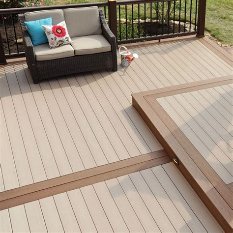 composite flooring decking boards light colored boards with railing strand