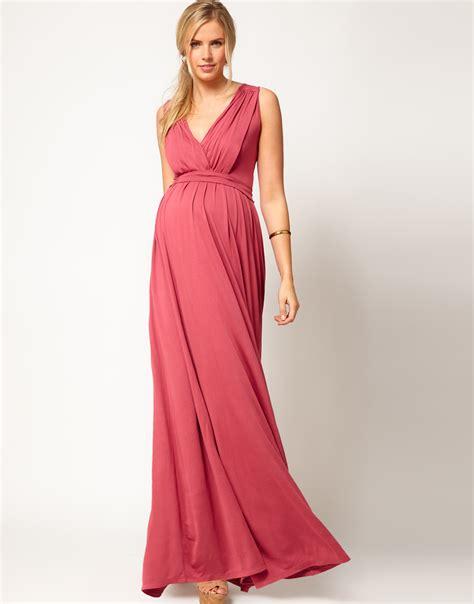 grecian drape dress asos maxi dress in grecian drape in natural lyst