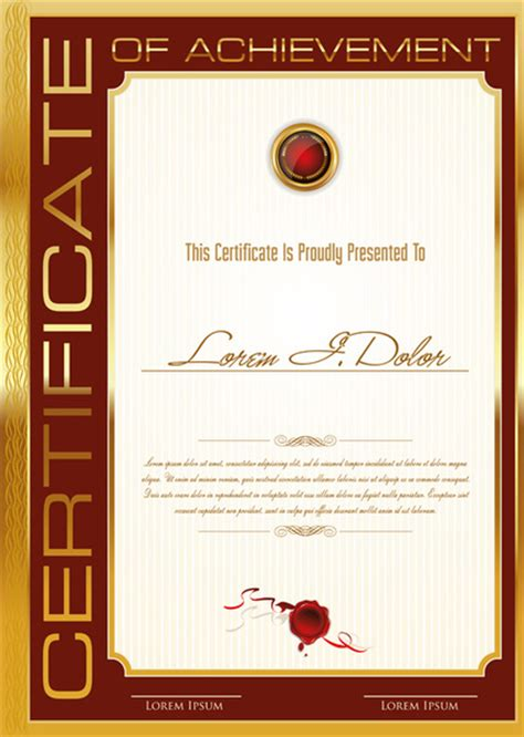 certificate design cdr format free download certificate design templates free vector download 13 339