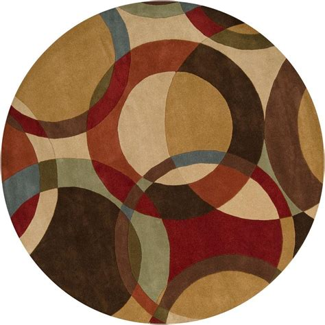 Artistic Weavers Seletar Brown 4 Ft Round Area Rug Mcl 4 Foot Area Rugs