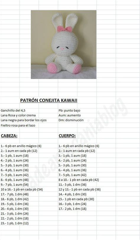 tutorial in español xcode 6 amigurumi kawaii bunny free crochet pattern tutorial