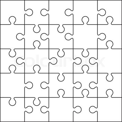 pattern of small white clouds in streaks crossword 25 jigsaw puzzle blank template or cutting guidelines
