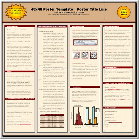 templates for research posters research poster template free download images