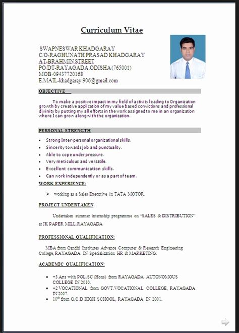 standard resume format doc resume format for word resume template easy http www