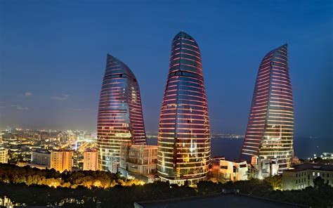 Futuristic architecture design buildings azerbaijan baku