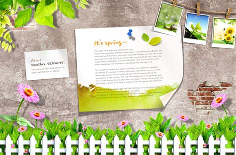 ibooks templates for children s books 春天生活相片 素材中国sccnn com