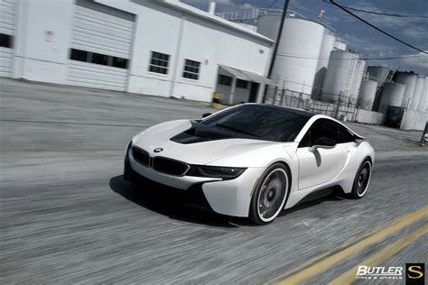 matte bmw i8 gallery matte white bmw i8 on savini wheels