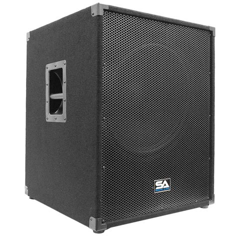 Speaker Subwoofer 18 Inch seismic audio aftershock 18 powered pa 18 inch subwoofer speaker cabinet ca musical
