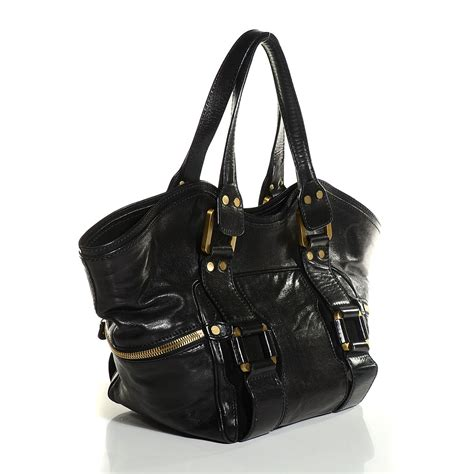 Jimmy Choo Marcia Leather Suede Tote by Jimmy Choo Calfskin Suede Marcia Tote Black 104447