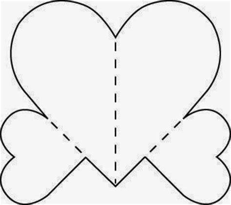 imagenes de corazones moldes molde para hacer tarjeta 3d de corazones