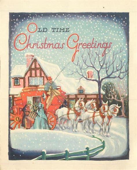 time christmas  couple entering coach led   white horses falling snow tutor