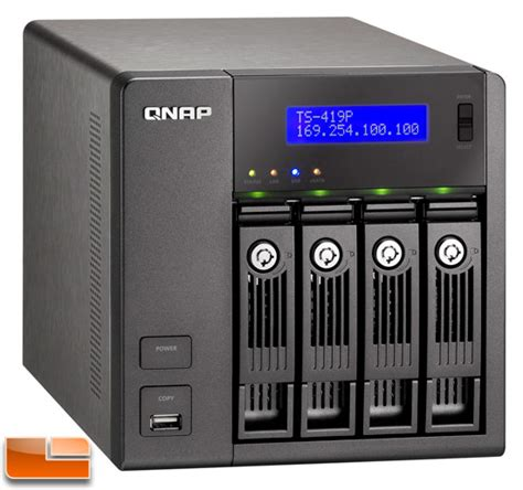 qnap ts 419p turbo nas 4 bay network storage review