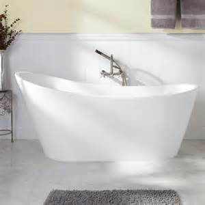 Freestanding Tub With 65 Quot Arcola Acrylic Freestanding Tub Bathtubs Bathroom