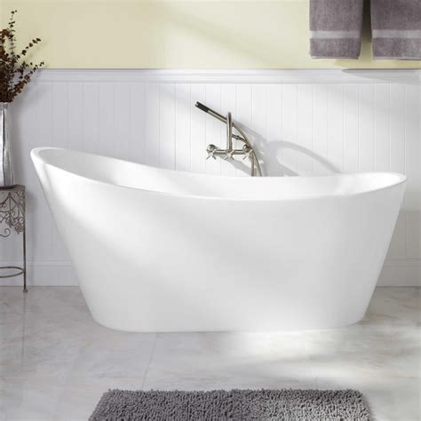 freestanding bath shower 65 quot arcola acrylic freestanding tub bathtubs bathroom