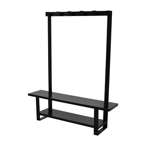 bench with hooks 90 off crate and barrel crate barrel entry bench with