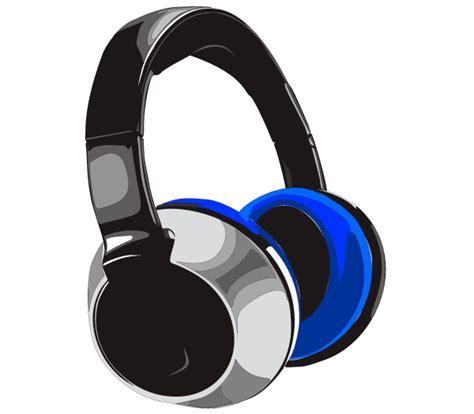 headphone clipart free headphones vector 123freevectors