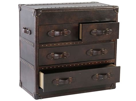 Leather Storage Drawers by Milburn Quot Ready To Ship Quot 4 Drawer Leather Hallway Storage