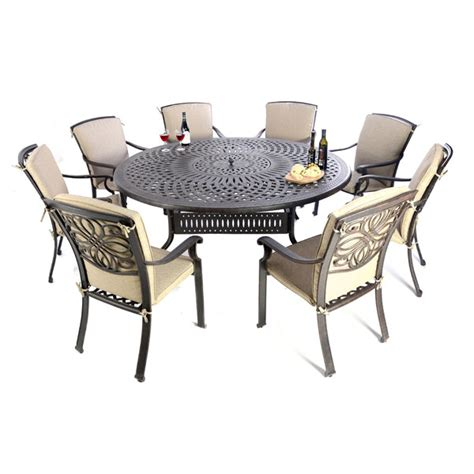 firepitgrill ice cm table  dining chairs