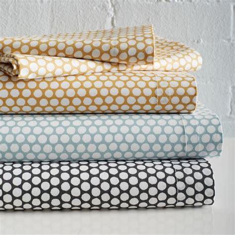 patterned bed sheets dot sheet set west elm
