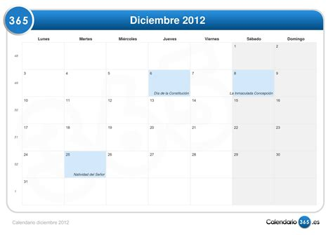 Calendario 21 De Diciembre 2012 Calendario Diciembre 2012