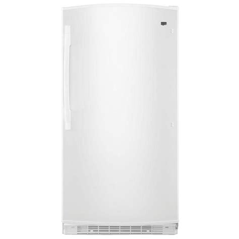 maytag 15 8 cu ft free upright freezer in white