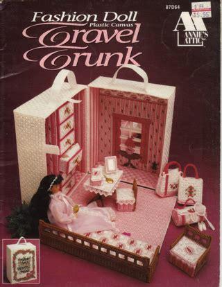 fashion doll plastic canvas patterns free free plastic canvas fashion doll travel trunk pattern