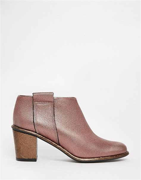 miista miista anais low cut leather heeled ankle boots