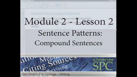 sentence pattern module module 2 sentence patterns lesson 2 compound