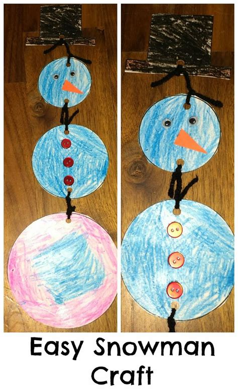 easy winter craft ideas for easy winter crafts for preschoolers easy snowman craft